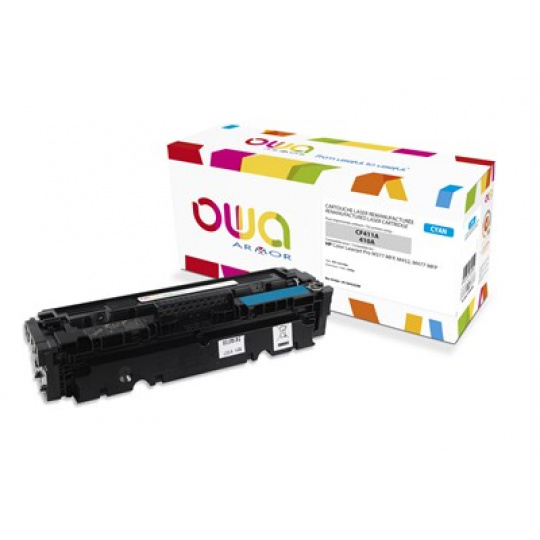 OWA Armor toner pre HP Color Laserjet pre M377, M452, M477, 2300 strán, CF411A, Cyan